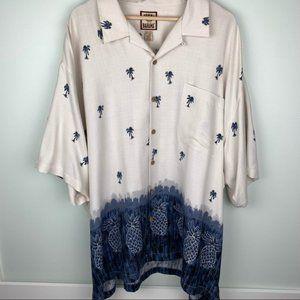 Tommy Bahama Tropical Print 100% Silk Short Sleeve